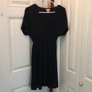 Mossimo black dress with deep V neck